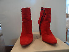 """Paul Smith """"Ezell"""" Heel Boots Red Retail $395  Worn twice! Size 39"""