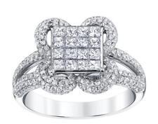 VS1 Princess Diamond Ring 1.77ct White 18k Gold Engagement