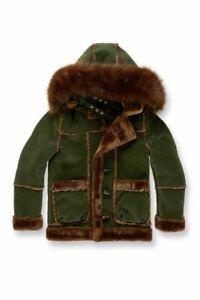 Jordan Craig Shearling Winter Jackets Fur Olive/Brown Little/Big Kids Sizes 2-16