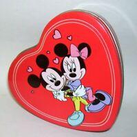 Vintage Disney Mickey and Minnie Heart Tin Box