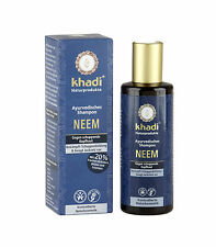 KHADI AYURVEDIC SHAMPOO 210ml - NEEM - ANTI-DANDRUFF - PREVENTS ITCH & FLAKING