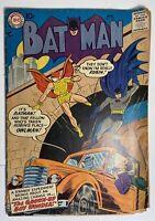 DC Comics Bat Man # 107 W/ Robin As Owl Man 1957 Vintage Old Comic Book