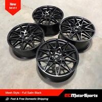 "20"" M4 M3 Mesh Style Wheels Satin Black 8.5/9.5 for BMW 3 4 5 6 Sedan Coupe"
