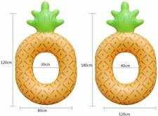 Inflatable Giant Pineapple Swim Ring Float Raft Swimming Pool Beach Water Toy
