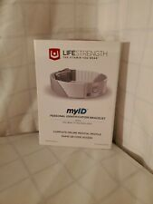 Lifestrength MyID Personal Identification Medical Bracelet Wristband Adjustable