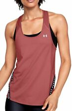 Under Armour Wordmark Tape Womens Training Vest Tank Top - Pink