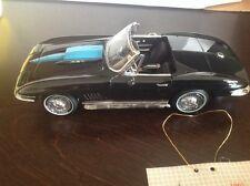 franklin mint 1967 Corvette L-88 427,black/ Light Blue Stinger,Nib,Coa