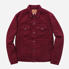 Supreme / Levi's Moleskin Trucker Jacket – Brand New – Burgundy – Medium M