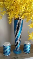 Tall Glass Vase + Decorative Candle Holders