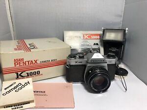 Asahi PENTAX K1000 SE 35mm Film Camera with  50mm 1:2 lens