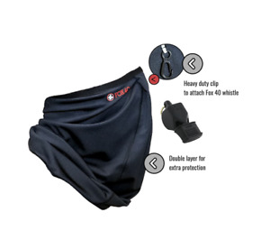 Fox 40 | Gaiter Face Mask | Free Classic CMG Whistle | Large/XL