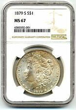 1879-S Morgan Silver Dollar - NGC Graded MS67 - High Quality Scans #2001