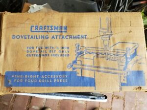 Vintage Craftsman King Seeley Dovetail Attachment Jig Template Accessory 9-2462