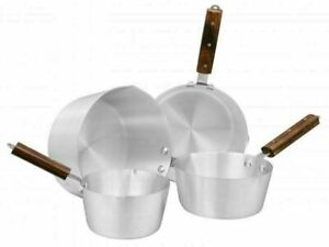 Supreme Aluminium Milk Pan With Wooden Handle Boiling Pot Pan Saucepan
