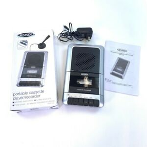 Jensen MCR-100 Cassette Player & Recorder Silver Black Adapter Manual