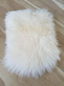 100% GENUINE SHEEPSKIN Chair Motorcycle Seat COVER Pet Bed Dog Cat Mat Delicate