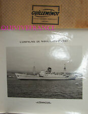 GRANDE PHOTO CNP Cie NAVIGATION PAQUET - AZEMMOUR paquebot 1950-1969