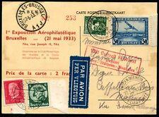 Lot N°9299 BELGIQUE/ALLEMAGNE - Affrt Mixte N°340 et PA N°1 + All. N°405 et 467