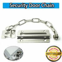 STRONG STEEL DOOR CHAIN  SCREWS HIGH SECURITY Safety Guard Restrictor Lock  @U