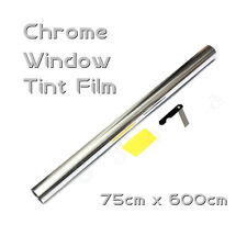 6M x 75cm Car Auto Van Chrome Silver Window Tint Film OneWay Mirror Tinting Foil