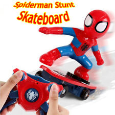 Spiderman 2.4GHZ RC Stunt Scooter Skateboard 360° Rotation Sound Kids Toy Gift