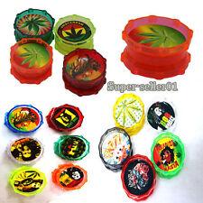 Hot 1PCS Colorful 2 Part Herb Grinder Metal Grinders Acrylic Plastic Pollinator