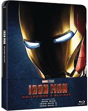 Marvel's Iron Man Trilogy 1-3 [Blu-ray] [Steelbook] [Region Free] [Import]