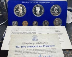 MINT 1975 Republic of the Philippines Proof 8-Coin Set w/COA (ASW 1.21oz)