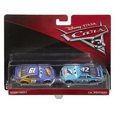 DISNEY PIXAR CARS 3 - BOBBY SWIFT & CAL WEATHERS - DIECAST MODEL TOYS - MATTEL