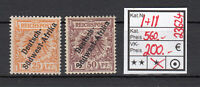 Colonies German South West Africa 1897, Mich No I+II