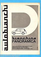 QUATTROR964-PUBBLICITA'/ADVERTISING-1964- AUTOBIANCHI BIANCHINA PANORAMICA
