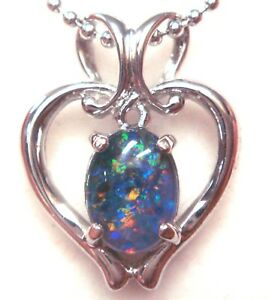 MOTHER'S DAY Opal Natural Black Triplet Opal Pendant From NSW