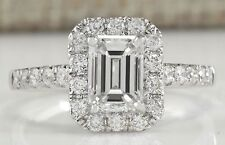 White Sapphire Birthstone 925 Silver Filled Wedding Engagement Ring Gift Sz 6-10