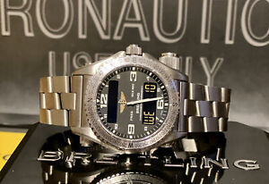 BREITLING Emergency Titanium Extra Band W/Deployment E76321 BOX PAPERS SERVICED