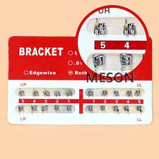 1PCS Dental Orthodontic Ortho Metal Brackets Braces Mini MBT 022 Slot 3 Hook HUK
