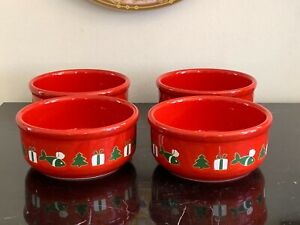 Waechtersbach Germany Christmas Bowls Set of 4