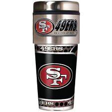 San Francisco 49ers NFL Stainless Steel 16oz Travel Tumbler Mug with Emblem