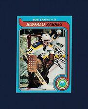 Bob Sauve signed Buffalo Sabres 1979 Topps hockey card