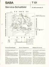 Saba  TG 464 Automatic h Tonbandgerät ORIGINAL Schaltplan ca. 1973