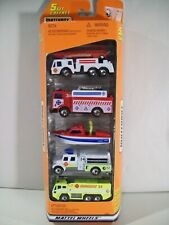 VINTAGE NEW MATCHBOX EMERGENCY RESCUE 5 PACK DIE CAST VEHICLES FIRE TRUCK BOAT