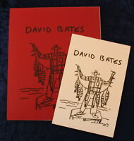 DAVID BATES - Catalogue illustré d'Exposition & Carton vernissage, 1992