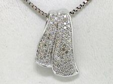 Diamant  Anhänger 585 Weißgold 14Kt Gold 112 Diamanten total 0,56ct