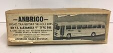 ANBRICO ALEXANDER Y TYPE BUS WINDOWS WHITE METAL BUS KIT No17