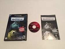 Monsters, Inc.  - Nintendo Gamecube - Complete In Box - manual is in french