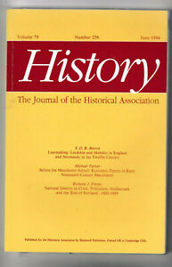 History - Journal of the Historical Association #256 Vol 79 June 1994 PB