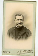 PHOTO CDV Motti à Grasse un religieux prend la pose belle barbe vers 1890