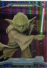 Star Wars Chrome Perspectives Refractor Parallel Base #11E Yoda