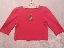 """Gymboree """"Lots of Dots"""" Rose Pink Wagging Tail Puppy Top, 2T"""