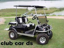 Club Car ds Golf Cart Diamond Plate Rocker panel Inserts & Kick plate 3 pc kit