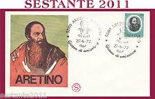 ITALIA FDC FILAGRANO PIETRO  ARETINO 1977 ANNULLO SPECIALE AREZZO H240